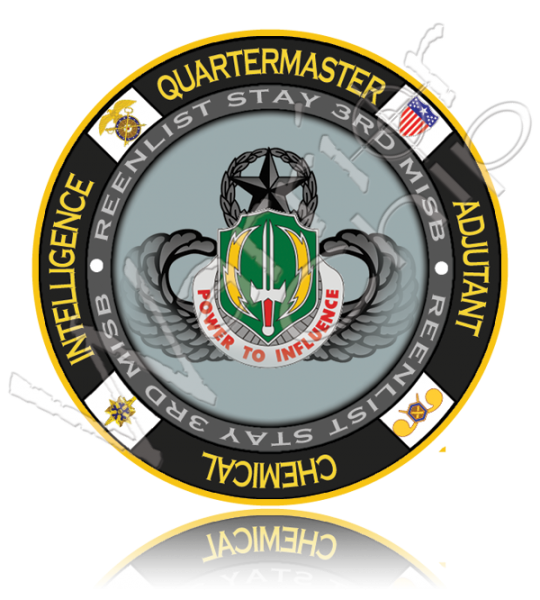 Military poker chip designs