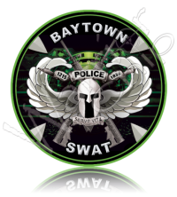 SWAT Poker Chip Custom Law Enforcement Challenge Coin 10907