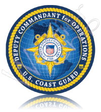 Custom Poker Chip Coast Guard 20120