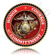 Marine Corps Semper Fi Honor Courage Committment 10779