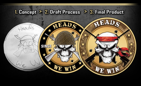 Get your challenge coin design created by one of our expert designers.